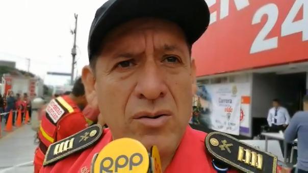 José Roncal, jefe de segunda brigada de los bomberos.