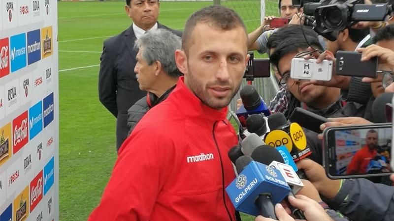 Horacio Calcaterra tuvo su primer día de entrenamiento con la Selección Peruana.