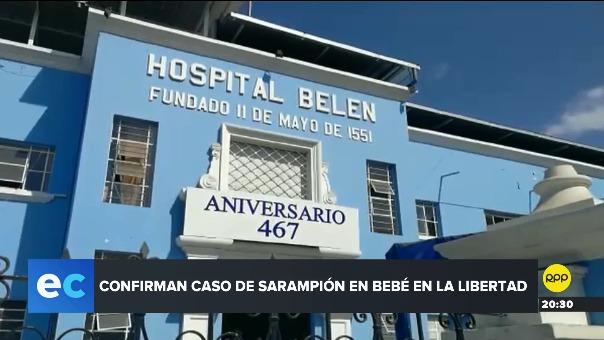 En la La Libertad no se registraba un caso de Sarampión desde el año 2000.