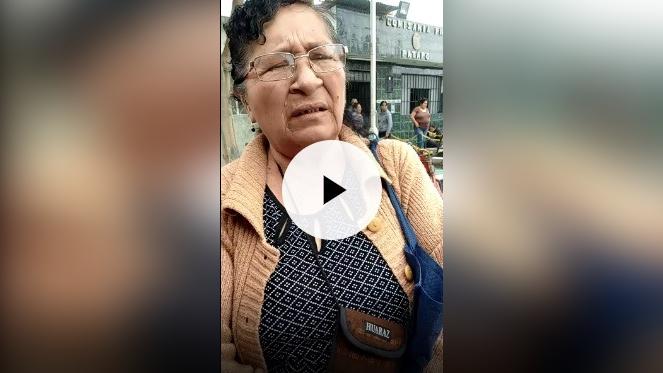 Luz Angélica Aguilar viuda de Delgado.
