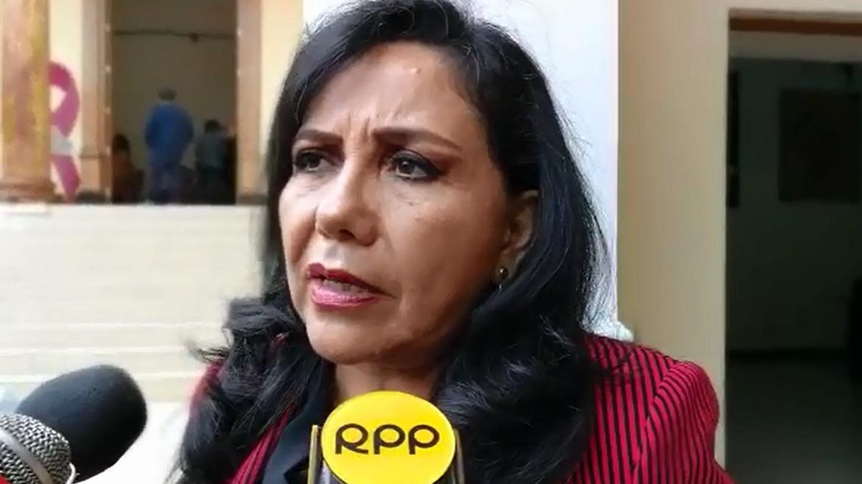 La congresista liberteña Gloria Montenegro pidió unión a los congresistas para trabajar por el Perú.