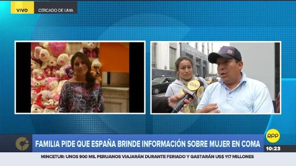 Familia pide que España brinde información sobre el estado de Lidia Álvarez.