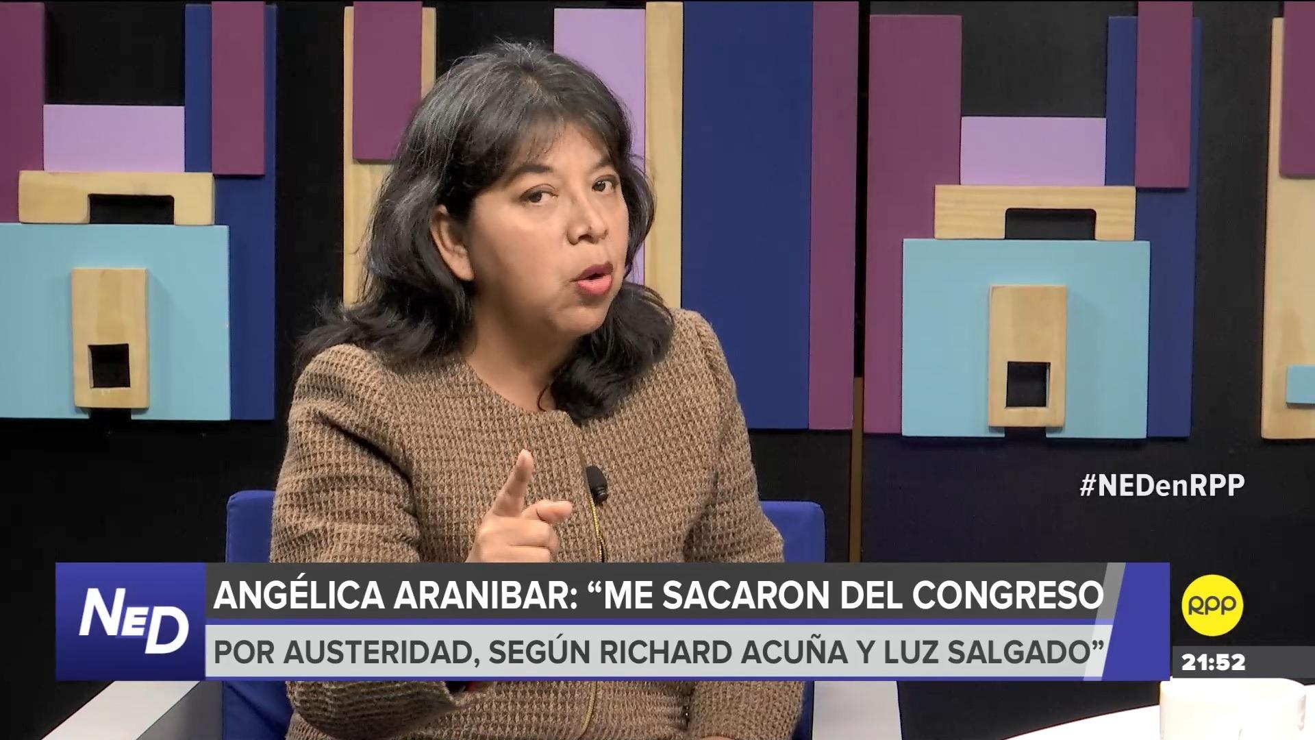 La periodista Angélica Aranibar comentó que no fue escuchada pese a que pidió que no le quitaran el empleo.