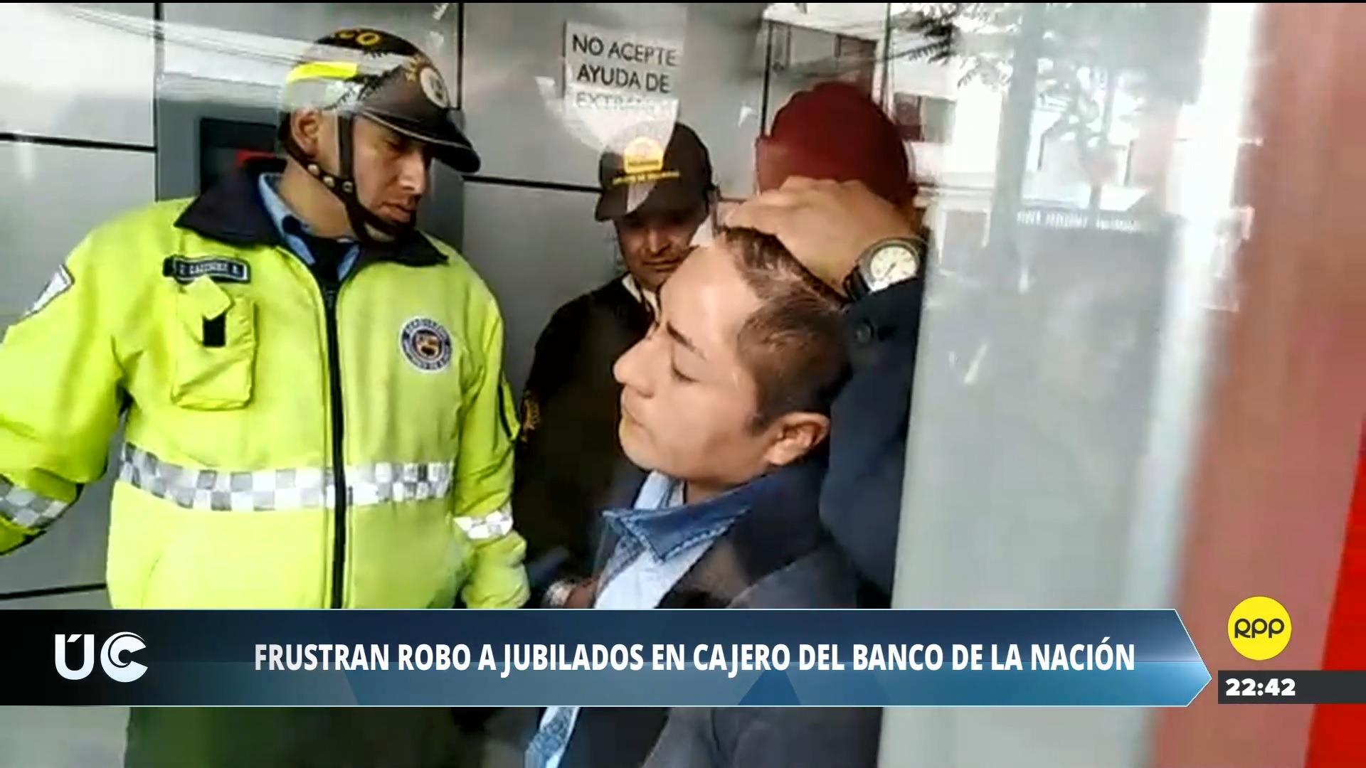 Personal de la Policía y Serenazgo capturaron al hombre y le trasladaron a la comisaría de Surco.