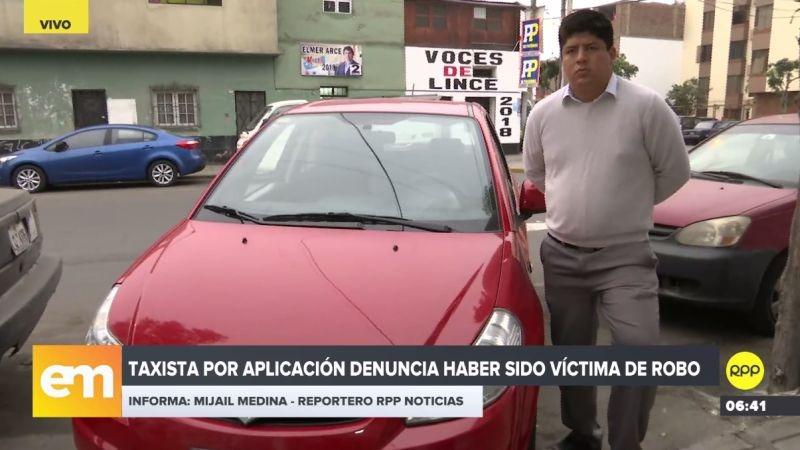 Robert Gálvez denunció que fue asaltado por delincuentes que se hicieron pasar por delincuentes.