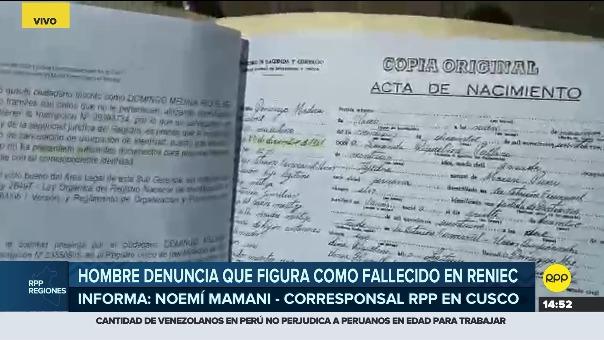Domingo Medina es ayudado por la Defensoría del Pueblo.