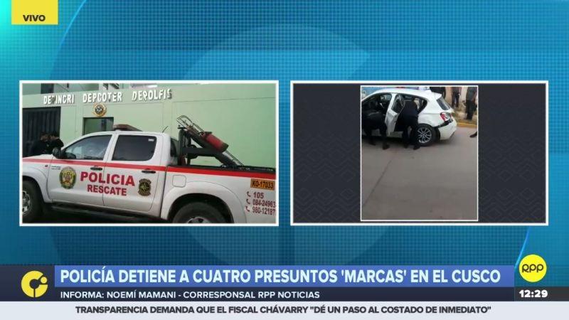 Los cuatro detenidos son procedentes de Lima.