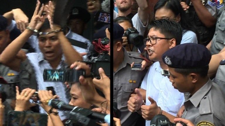 Siete años de cárcel a dos periodistas de Reuters.