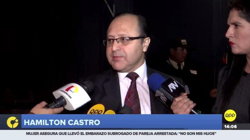 """Hamilton Castro tildó de """"maliciosas"""" las declaraciones de la fiscal Rocío Balbín."""