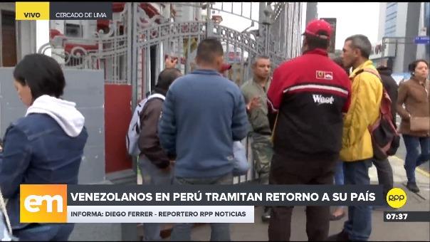 Venezolanos en Perú tramitan retorno a su país.
