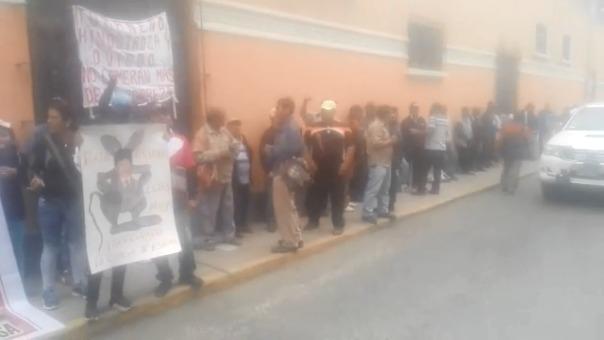 Protesta de azucareros en Chiclayo.