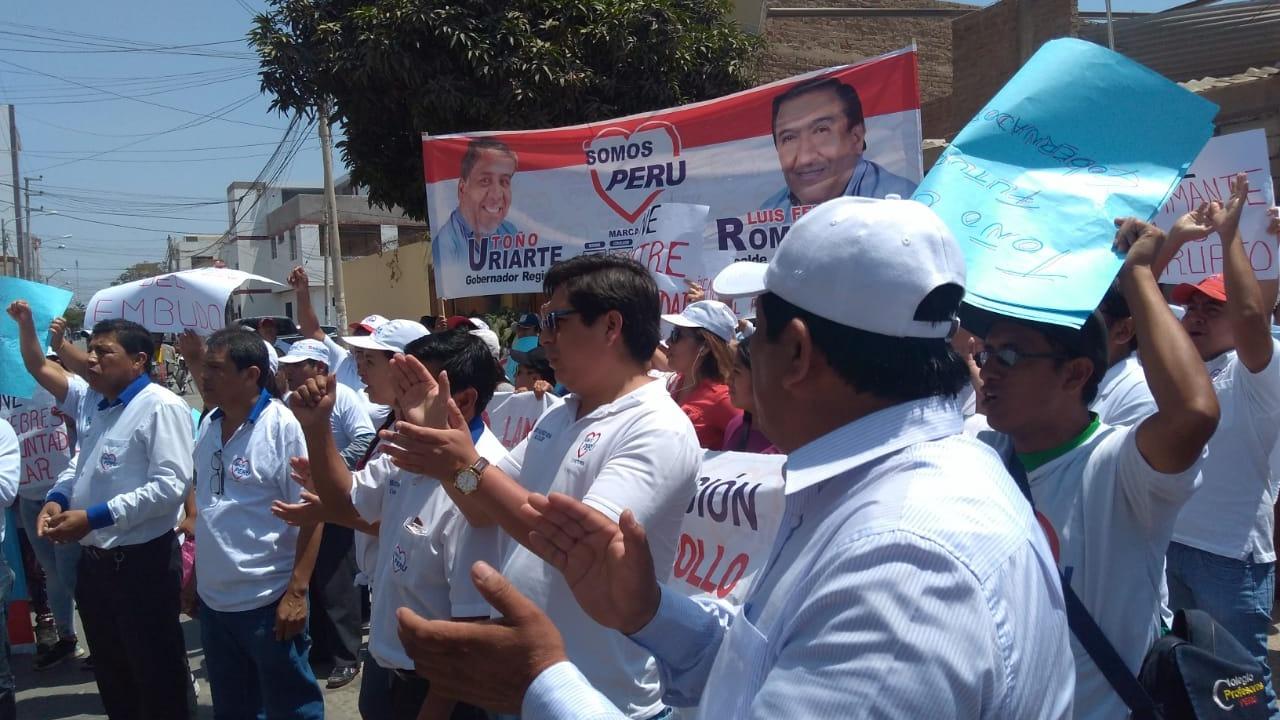Protesta en Jurado.