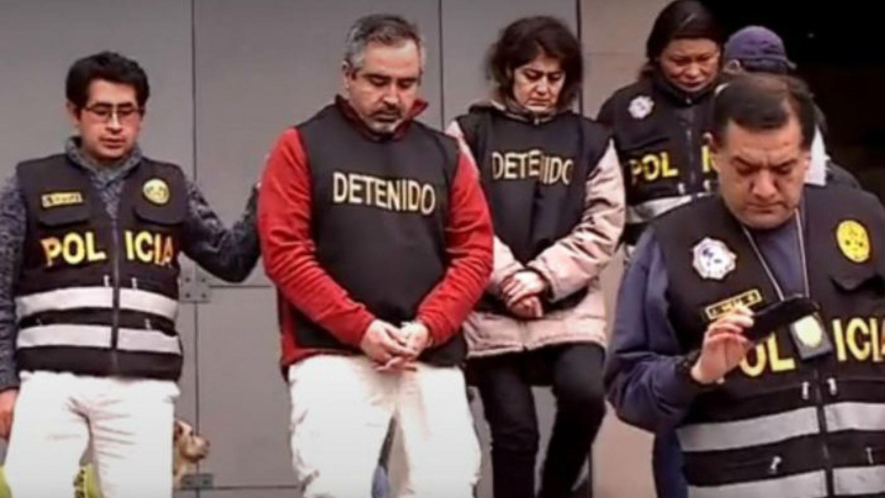 La pareja de esposos, de nacionalidad chilena, se encuentra cumpliendo prisión preventiva.