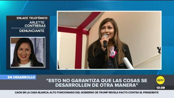 Entrevista a Arlette Contreras en la multiplataforma de RPP.