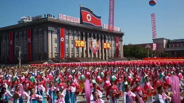 El desfile por el 70 aniversario de Corea del Norte.