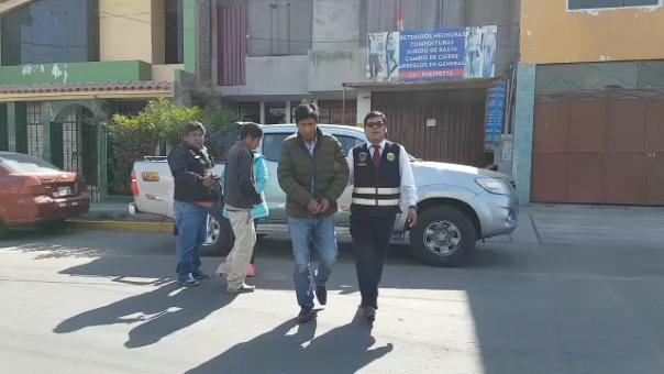 Los detenidos fueron llevados a la ciudad de Arequipa.