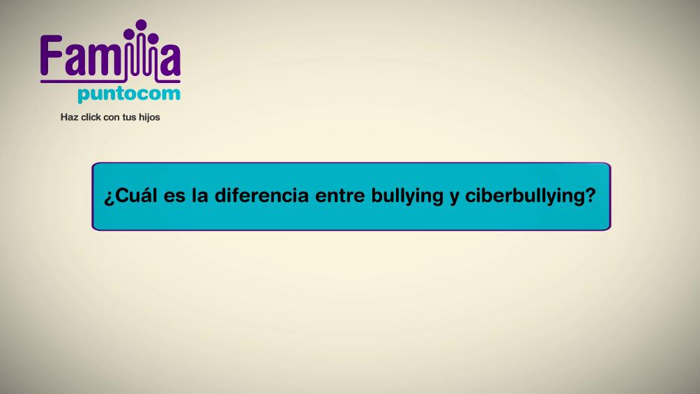 ¿Cuál es la diferencia entre bullying y ciberbullying?
