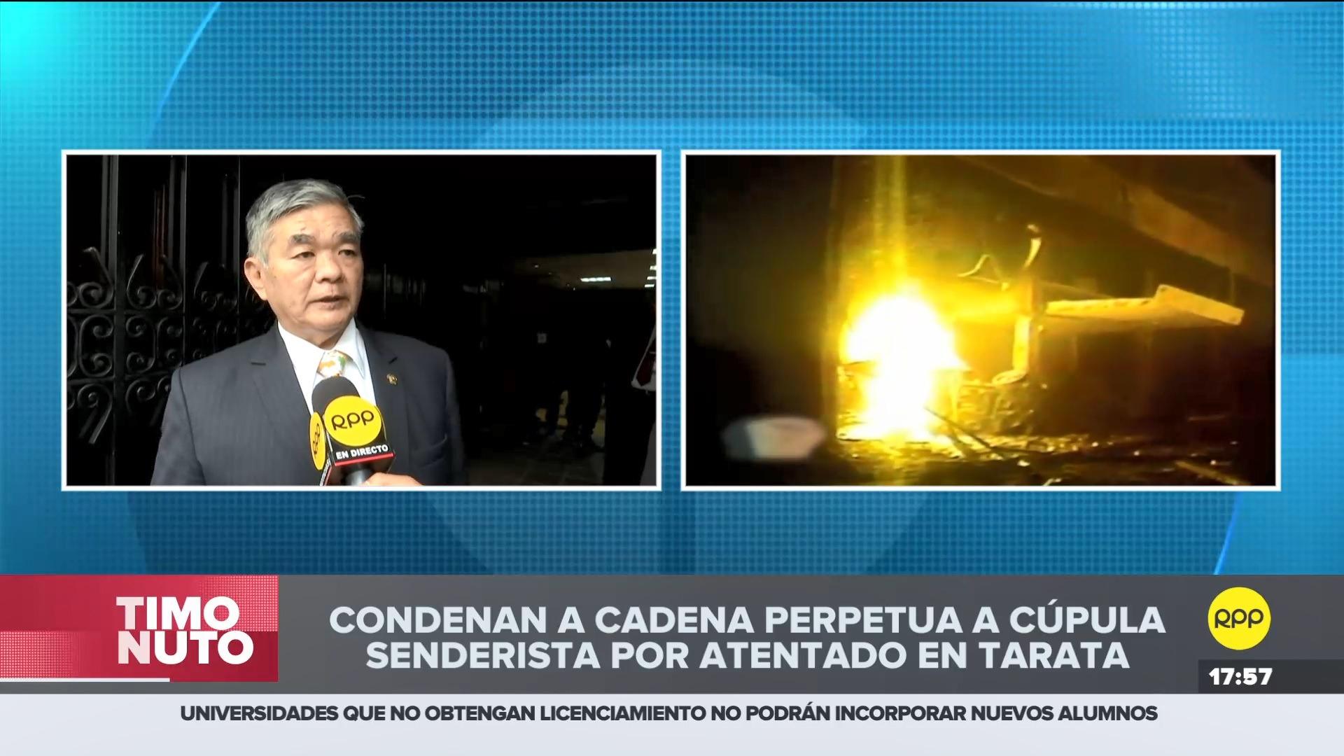 El parlamentario de Fuerza Popular comentó saludó la sentencia contra los terroristas.