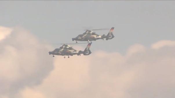 China ha aportado una treintena de aviones para este ejercicio militar.