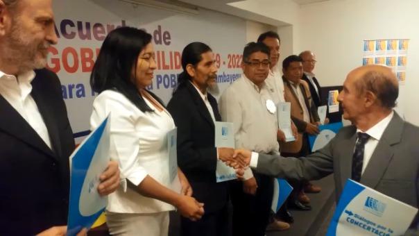 Dieciséis candidatos al Gobierno Regional firmaron acuerdo de gobernabilidad.