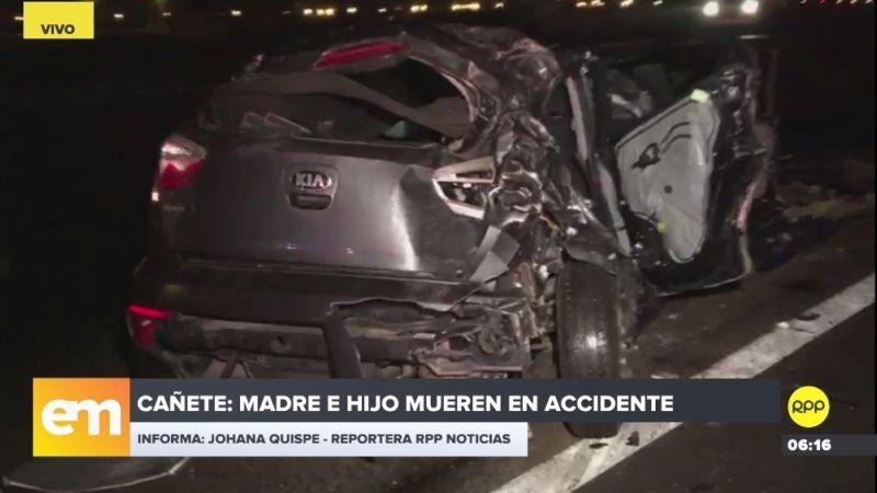 El accidente ocurrió al promediar la una de la madrugada.
