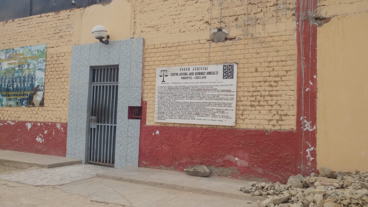 El último lunes, cuatro menores burlaron la seguridad y escaparon del centro de rehabilitación ubicado en Pimentel.