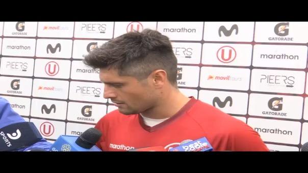 Diego Manicero se fue expulsado en el duelo con UTC.