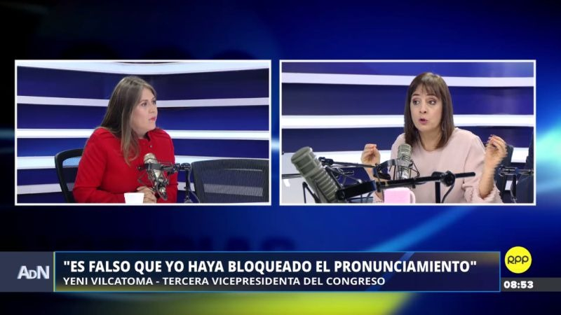Yeni Vilcatoma estuvo en Ampliación de Noticias.