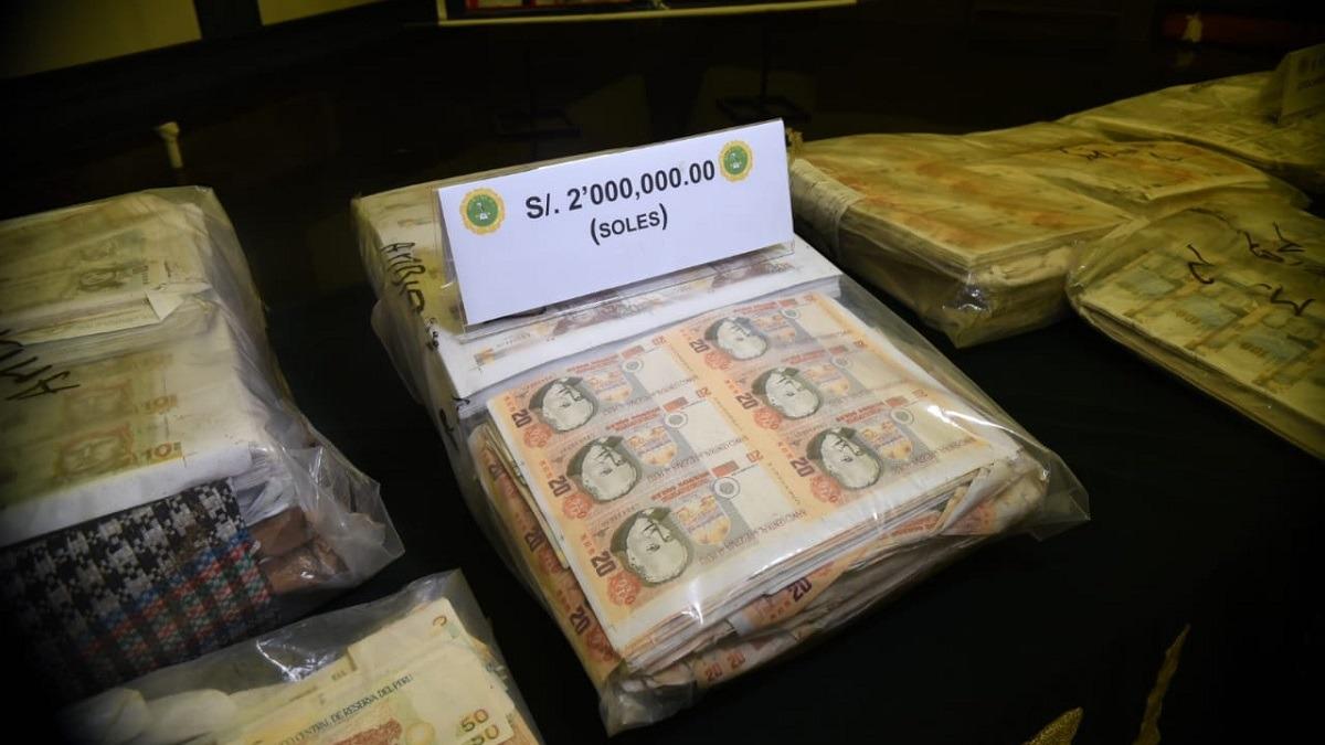 Operativo policial permitió una gran incautación de billetes falsos.