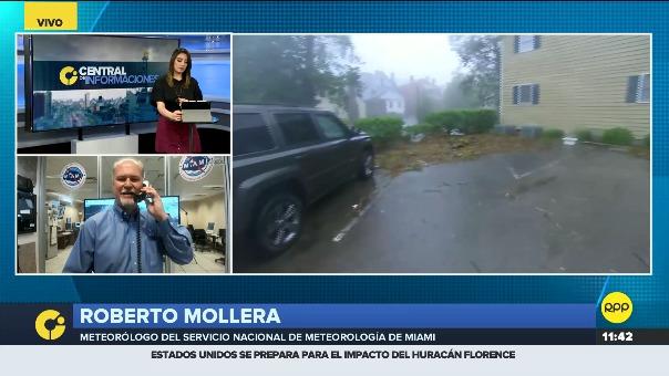 RPP Noticias conversó con Roberto Mollera, meteorólogo del Servicio Nacional de Metereología de EE.UU., con sede en Miami, sobre el huracán Florence.
