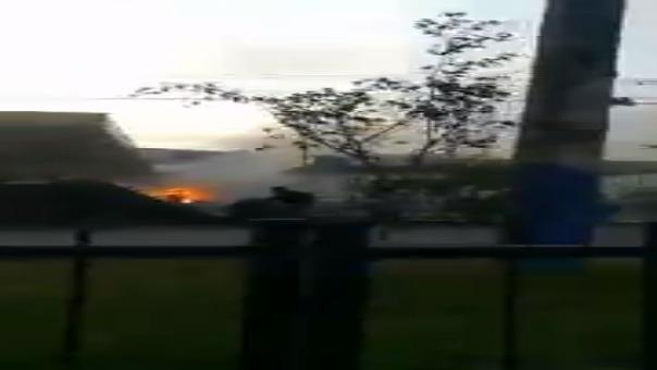 Según los bomberos, fue un surtidor de GLP el que se incendió.
