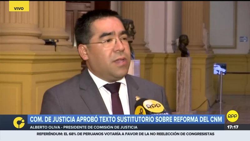 El parlamentario de Peruanos por el Kambio comentó que se logró aprobar al proyecto de reforma del CNM tras un consenso.