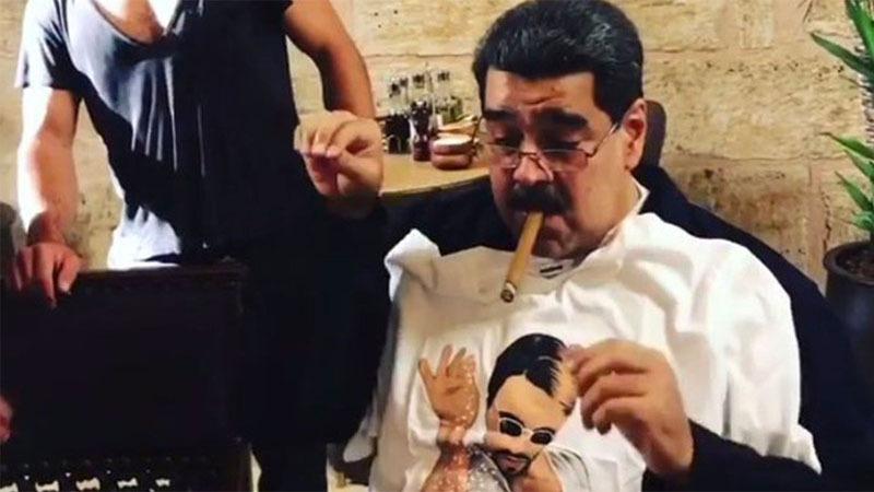 El mandatario visitó el restaurante junto a su esposa Cilia Flores; sin embargo, no se ha determinado cuándo fueron grabadas las imágenes.