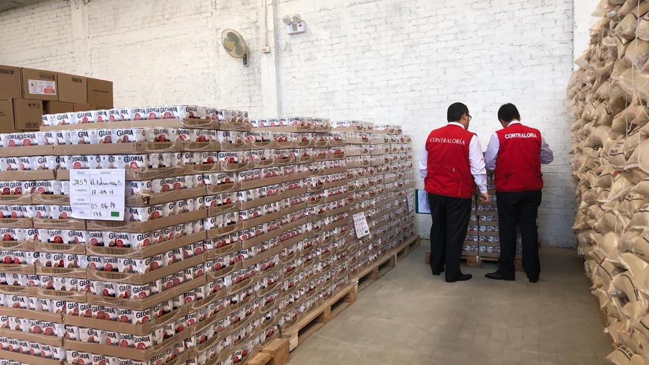 Los contralores se retiraron del almacén y evitaron dar mayores detalles de la inspección.