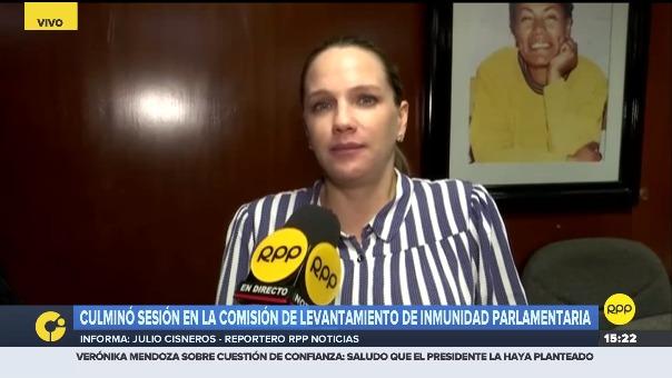 Luciana León, presidenta de la Comisión de levantamiento de inmunidad del Congreso.