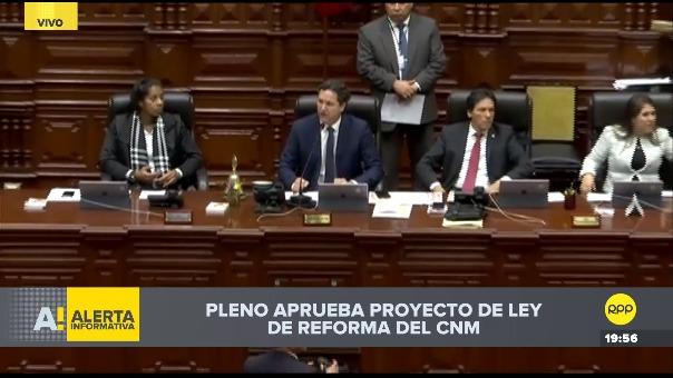 Votación del Pleno por reforma del CNM.