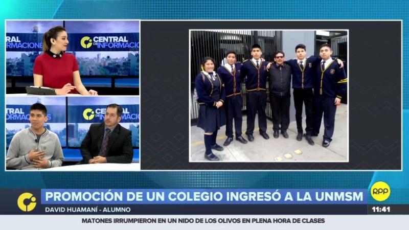 RPP Noticias conversó con uno de los alumnos del colegio Juan Pablo Peregrino y con su profesor.