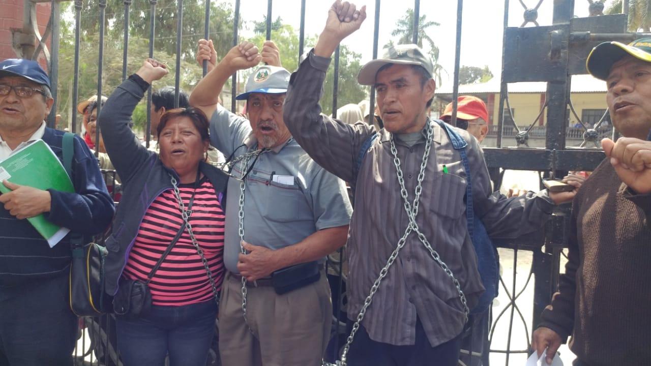 Protesta de trabajadores de empresa Tumán.