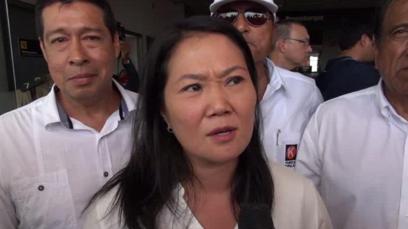 La lideresa de Fuerza Popular dijo que ella está apoyando a sus candidatos a las Elecciones Municipales y Regionales.