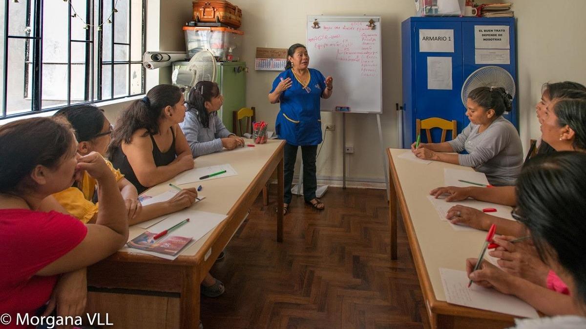 Sofía Mauricio (55 años) empezó a trabajar a los 7 en una casa-restaurante en Cajamarca.
