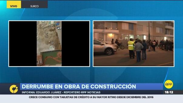Los vecinos denunciaron que desde hace un mes reportaban deslizamientos en la construcción a la municipalidad.