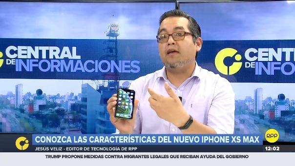 El unboxing del iPhone XS Max en RPP TV.