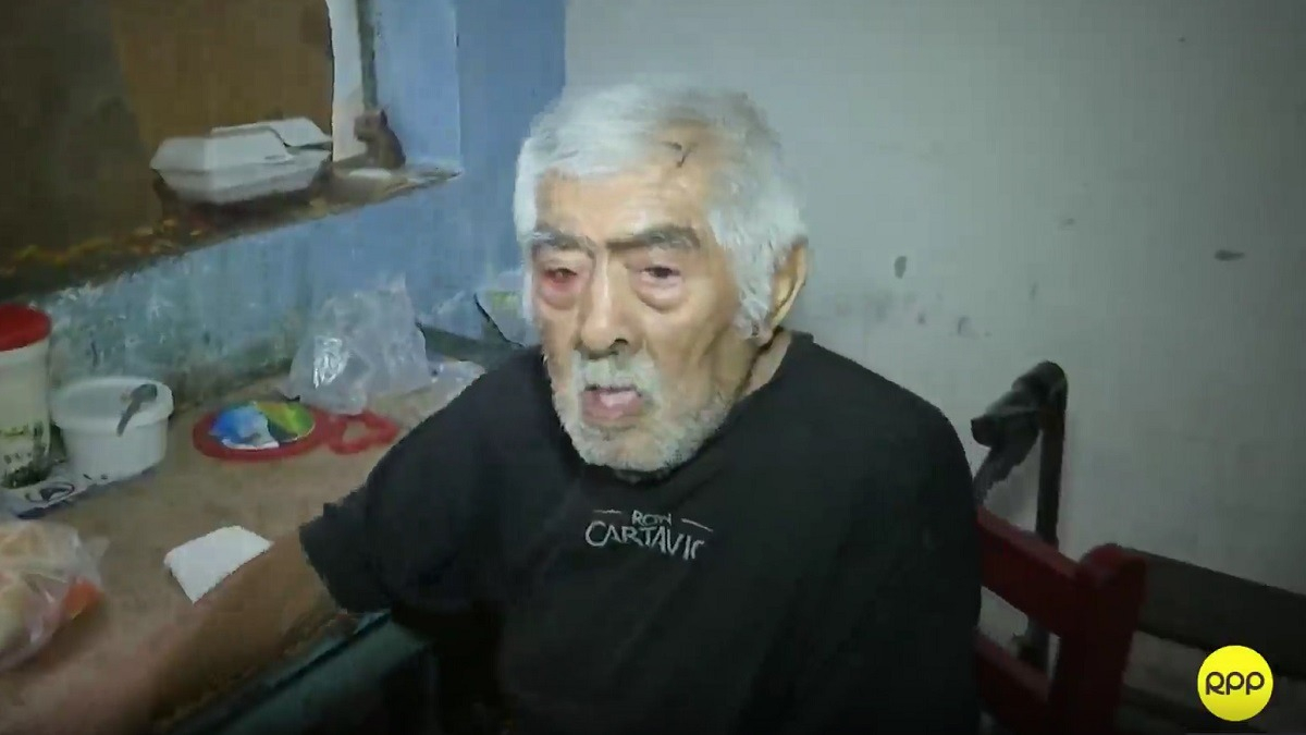 Anciano en situación de abandono recibió ayuda.