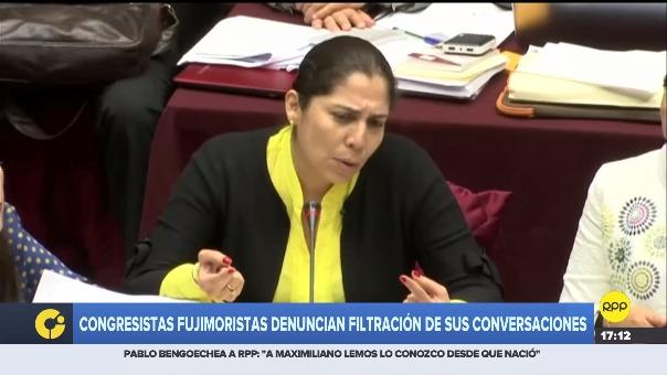 Congresistas de Fuerza Popular denunciaron la filtración de sus conversaciones.