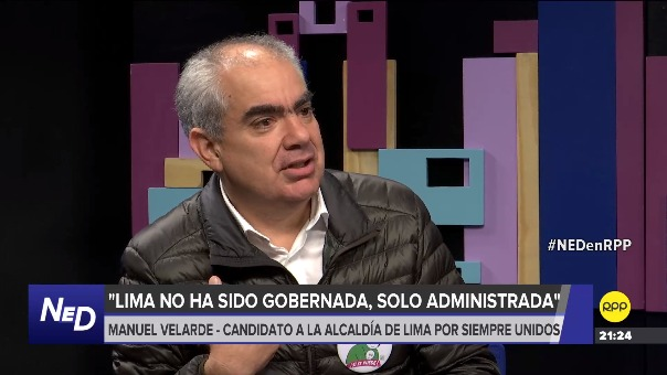 Manuel Velarde, candidato a la alcaldía de Lima por Siempre Unidos, en entrevista con RPP Noticias.
