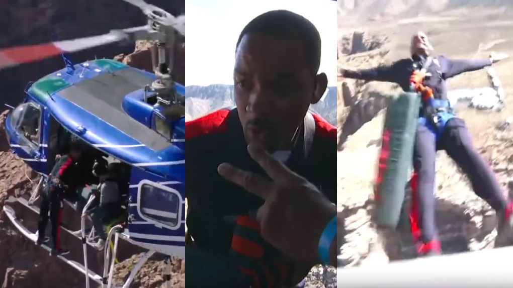 Will Smith celebró su cumpleaños con un arriesgado reto: hizo puenting desde un helicóptero.