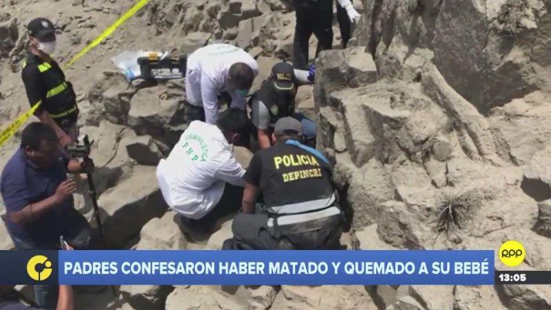Los padres participaron en la diligencia indicando el lugar donde enterraron el cadáver.
