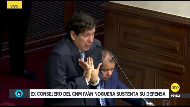 Iván Noguera durante su defensa ante la Comisión Permanente.