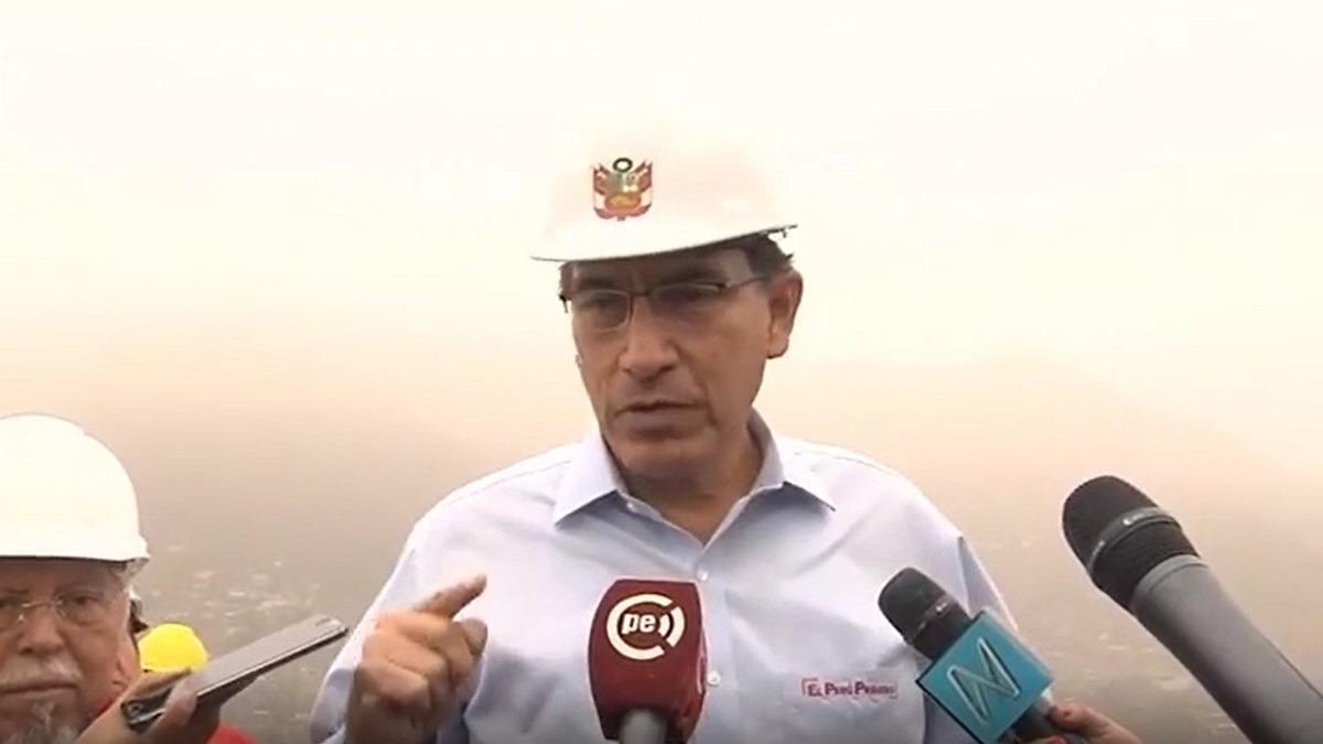 Vizcarra inspeccionó la ampliación de los sistemas de agua potable en el Rímac.