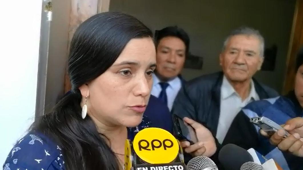 Lideresa de Nuevo Perú, Verónica Mendoza, llegó a Trujillo para brindar una conferencia en el marco de las próximas elecciones.